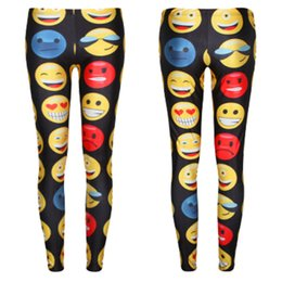 Wholesale East Knitting Leggings - Wholesale-East Knitting F456 New Emoji Jogger Pants Women Men Girl Boy Leggings Cartoon Outfit Clothes Trousers Free Shipping
