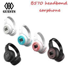 Wholesale headphones bluetooth radio - Zealot B570 Bluetooth earphone Wireless Stereo Headphone Stereo Handsfree Headband Earphone With Mic, FM Radio, TF Card Slot retail box