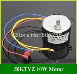 Wholesale Geared Synchronous Motors - 50KTYZ 220V AC Synchronous Motor Gear   Deceleration   Low Speed Motor 6 -10W 1pcs Free Shipping