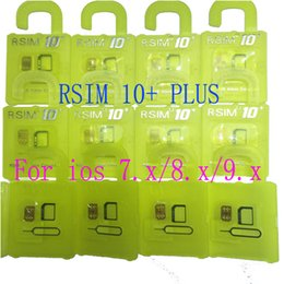 Wholesale Iphone S Unlocked - Newest Official R-SIM 10+ rsim10 RSIM 10+ Thin sim Card unlocking for Ios9.X 8.X 7.X For iPhone 4S 5s 5 6 6s Sprint AU Softbank s direct use