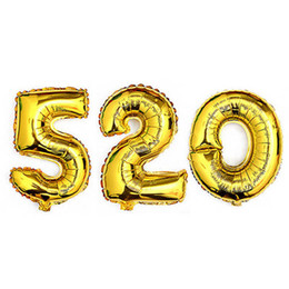 Wholesale Quality Party Supplies - 1Pcs 16 inch 0-9 Gold Silver Number Foil Balloons Digit Helium Ballons Birthday Party Wedding Decor Air Baloons Party Supplies Top Quality