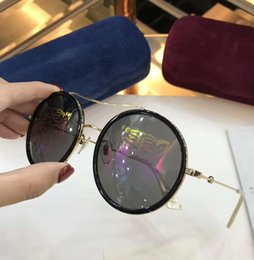 Wholesale glass tigers - Designer prinded Tiger Black Gold Round Sunglasses 0061S Fashion Sunglasses brand new with case