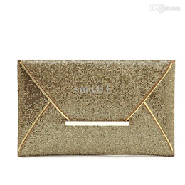Argentina Monedero del bolso de embrague al por mayor a la manera de lujo para mujer de las lentejuelas del sobre / café Twinkly Partido de noche del color del bolso del oro wholesale gold sequin clutch on sale Suministro