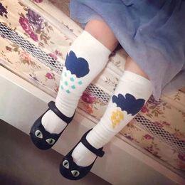 Wholesale Korea Baby Boy - Korea Fashion Baby Socks Boys Girls Socks Lightning Flash Clouds Rain Cute Socks Cotton Soft Stocking Kids Half Knee Antiskid Socks A3823