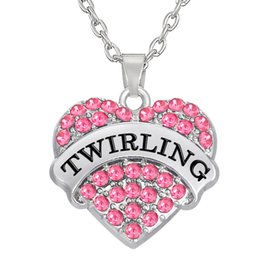 Wholesale Elegant Jewelry For Men - Words TWIRLING Heart Elegant Mixcolor Pendants 50pcs a lot Rhodium Plated For Men&Women's Gift Statement Necklaces DIY Jewelry