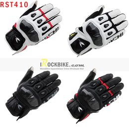 Wholesale Motorcycle Gloves Taichi - Wholesale-2015 New Arrival Hot Sale RS-Taichi RST-410 Leather Motorcycle Glove Motocrosss Armed Racing Gloves M-XL