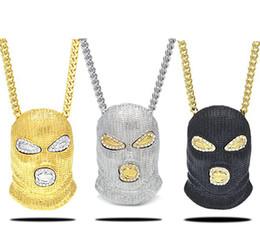 Wholesale gold plated cards - Jewelry Men's Anti-terrorism Headgear 18K Plating Tide Card Necklace Pendant Man Pendant Gold Plated Chain Men Hip Hop Necklace J13S