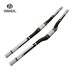 Wholesale Handlebars Mtb Carbon Flat - TMAEX Pro Mountain Bike UD White Full Carbon Handlebar Flat Carbon Bicycle Handlebar MTB Parts 620 640 660 680 700 720 740 760mm