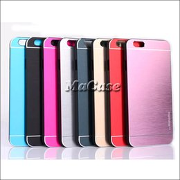 Wholesale Multi Case Iphone 4s - MOTOMO Amor Multi-Color Metal Aluminium + Hard PC Case Cover For iphone 4 4S 5 5S 6 plus iphone6 Samsung Galaxy S4 S5 S6   s6 edge note 3 4