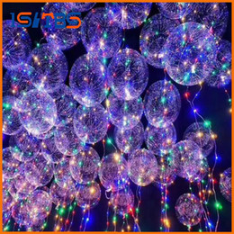Wholesale Pvc Advertising - 2017 New Light Up Toys LED String Lights Flasher Lighting Balloon Wave Ball 18inch Helium Balloons Christmas Halloween Decoration Toys