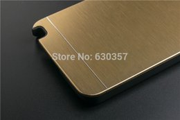 Металлический галактический футляр для телефона онлайн-Wholesale- Metal Brush Aluminum+PC Material Hard case For  Galaxy Note 3 Mobile Phone case Metal Back Cover