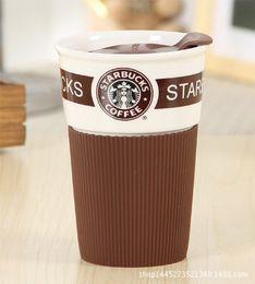 Wholesale Starbucks Bone China Cups - Starbucks cup lid spoon bone china wind ceramic coffee cup mug large capacity via creative couple cups