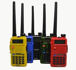 Wholesale Baofeng Vhf Uhf 5r - 2015 Hot Portable Radio Baofeng UV-5R two way radio Walkie Talkie pofung 5W vhf uhf dual band 136-174 400-520MHZ baofeng uv 5R