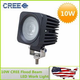 Wholesale Power Beam Bike - Factory price !! 10W CREE High Power LED Work Light Lamp Off Road Bike Motorcycle Fog Headlights Flood Beam