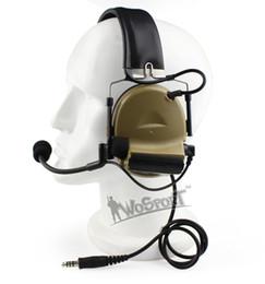 2019 radios tácticas Nuevo Tactical HD05 Auriculares con reducción de ruido Cancelación de la captación de sonido electrónico para radios bidireccionales Midland verde oscuro negro radios tácticas baratos
