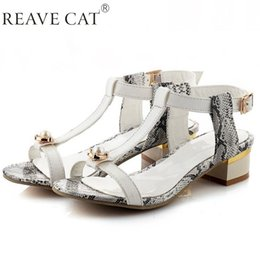 Wholesale Pearl Flat Sandals - New fashion brand 2015 Summer style Ladies Woman sandals Flats Pearl Rhinestone Serpentine T-strap Sweets Party White Pink Sale