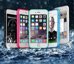 Wholesale Gel Sealing - 100% Sealed Waterproof Resistant Full Body Cases For Apple Iphone 7 7Plus 6 6S 4.7 Plus 5.5 Case Flip Wallet TPU PET Gel Front & Back Shell
