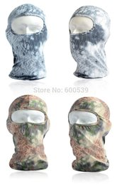 Wholesale Camouflage Caps Hunting - Wholesale-Snake Camouflage Stretch Balaclava Tactical Airsoft Hunting Bike Motorcycle Ski Cycling UV Full Face Mask Warm Neck Cycling Mask