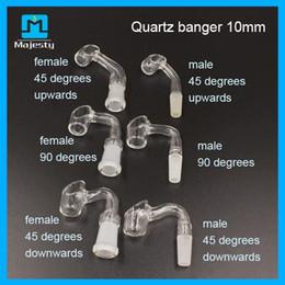 2019 ciotola di vetro di quarzo di 14mm Bong 2015 tubo dell'acqua con quarzo Banger 10mm 14mm 18mm maschio femmina bong di vetro olio piattaforme ciotole libero ciotola di vetro di quarzo di 14mm economici