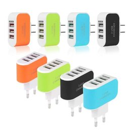 Wholesale Galaxy Note Charger Port - Metal Dual USB wall US plug 2.1A AC Power Adapter Wall Charger Plug 3 port for samsung galaxy note LG phone tablet ipad