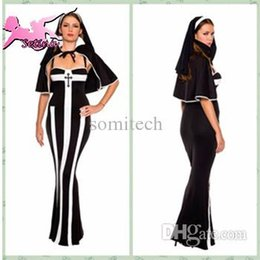Wholesale Musical Costumes - Wholesale-cosplay costume hot selling catholic nun cosplay playing musical costume women uniform HJS019