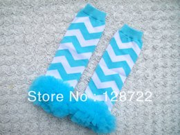 Wholesale Wholesale Christmas Chevron Leggings - Wholesale-wholesale freeshipping Christmas Chevron leg warmers Chevron ruffle leg warmers cotton baby boys and girls legwarmer 6 pairs lot