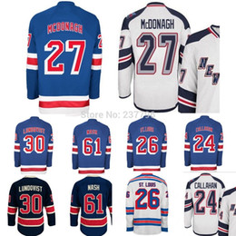 Wholesale Cheap Silk Fans - Cheap New York Rangers Ryan Mcdonagh Jersey #27 Home Blue Ice Hockey For Sport Fans Best Quality Hot Sale All Stitched Man