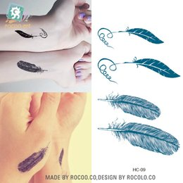 Wholesale Temporary Tattoo Sticker Sex - Halloween special effects makeup Feather pattern Temporary cute Body Tattoo Sticker Delicate Cool Sex products Tattoo stickers D546M