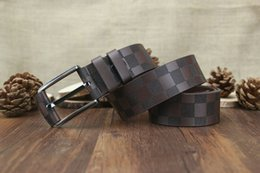 Wholesale plaid leather belt - New style high quality frog pattern leather men and women belts designer fashion double M buckle high-grade brand..