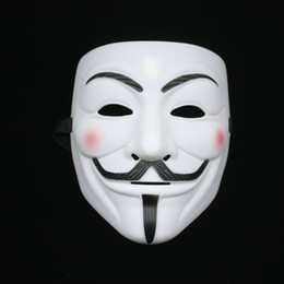 Wholesale Thicker Dress - Thicker Scrub V For Vendetta Mask Guy Fancy Dress Fawkes Halloween Masquerade Party Full Face Mask With Hole On The Nose