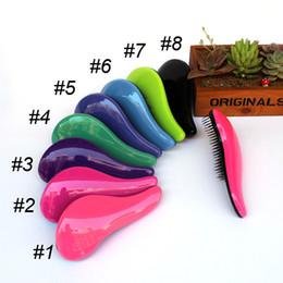 Wholesale Salon Hair Color Wholesale - Magic Detangling Handle Hair Brush Comb Salon Styling Tool TT Shower Hair Comb mix color DHL FREE SHIPPING 0604010