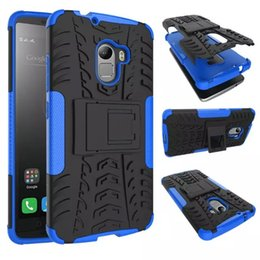Wholesale Pc Lenovo - For Lenovo Vibe P1 P1m A2010 K6 A7010 S1 K5 NOTE A6600 A7700 ZUK Z1 Z2 Dazzle Hybrid KickStand Rugged Heavy Duty TPU+PC case Cover 1PC