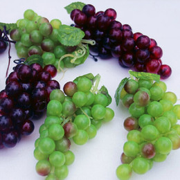 Wholesale Fruits Crafts - Idyllic Styles Home Decor Artificial Fruits Large Grapes String Decorative Craft Ornaments Wedding Christmas Shooting Props Supplies