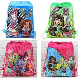 Wholesale Woven Drawstring Backpack Wholesale - 12pcs Monster High shoe bag, shoe pouch, gift bag, drawstring bag schoolbag shoulderbag