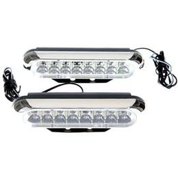 Canada 2 * Universel voiture Blanc 16 LED Feux de jour DRL Voiture Brouillard Jour Conduite Lampe 12 V 9 W Offre
