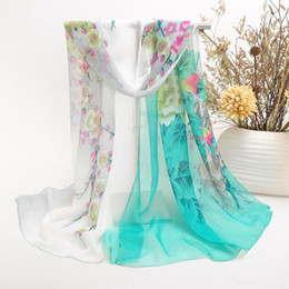 Wholesale Scarf Chiffon Mix - New Peony Women Scarf Best Gift To Mom Rich And Honored Pattern Scarves Mix Colors 017