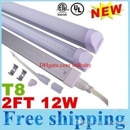 Wholesale T8 Led Tube 12w - Super Bright 12W 2ft 0.6m T8 Integration Led Tubes Light AC110-277V Warm Natural Cool White 2835 SMD 20lm SMD + UL CE cUL
