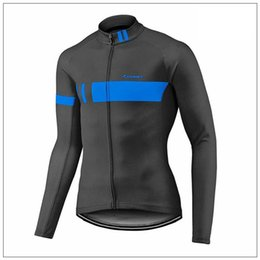 Wholesale Bicycle Giant Jersey Long - 2017 New giant Team Men\'s Cycling Jersey Long Sleeve Bicycle shirts Cycling Clothing Racing Bike Wear Outdoor Sportswear J1601