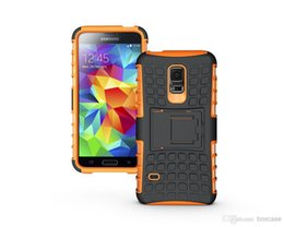 Wholesale S4 Mini Protection - Dual Layer Heavy Duty Rugged Defender Cell Phone Protection Hybrid Kickstand Case For Samsung Galaxy S3 S4 S5 Mini Cover Skin Shockproof