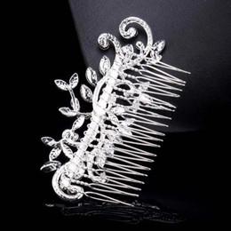 accesorios para el cabello clips de diamantes Rebajas Joyas de diamantes Hoja de Imitación de Cristal Rhinestone Nupcial Tiaras Peinetas de Pelo Horquilla de La Boda Accesorios Para el Cabello Joyas CPA199