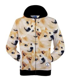 Wholesale Tiger Animation - w151231 2015 men women harajuku print animal dog tiger 3d drake hoodies funny Animation sweatshirt sudaderas element men's jacket