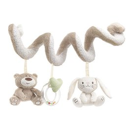Wholesale Rabbit Bedding - baby bed Hanging toy Spiral Activity rabbit Round the Bed Baby Educational Rattles Toys