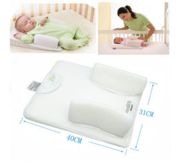 Wholesale Baby Sleeping Cushions - Baby Infant Newborn Anti Roll Pillow Sleep Positioner Prevent Flat Head Cushion baby clothing free shipping