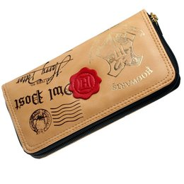Wholesale Harry Potter Pocket - Harry Potter Letter Zip Around Wallet pu Long Fashion Women Wallets Designer Brand Purse Lady Party Wallet Female Card Holder Free shipping