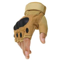 2019 handschuhe taktisch grün Großhandels-CCQB im Freien taktisches Sandy-Bergsteigen-Mann-Winter-Armee-Grün-halb Finger-Schwarzes die Schnitt-Arbeitshandschuhe ST008 günstig handschuhe taktisch grün