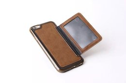 Wholesale Hot Photo Frame Free - 2015 New Hot iPhone 6 4.7 inch Vintage Retro Flip Stand Wallet Leather Case With Photo Frame ID Card Holder Phone Cover DHL Free 50 pcs