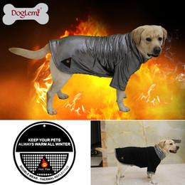 Wholesale Heated Fleece Jacket - Free shipping !!! DogLemi Heat Reflective Fleece Dog Jacket Reversible Winter Large Dog Clothes