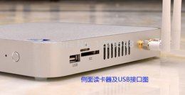 Wholesale Mini Tf 2g Cards - Wholesale-intel 1037U 1.8GHz Dual-core thin client mini pc desktop pc support VGA HDMI with 2 LAN USB 3.0 TF SD Card 2G RAM 320G HDD