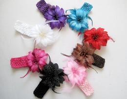 Wholesale Cheaper Feather Headbands - NEW!Feather princess hair band!flower baby headband,girls hair accessories,fashion cheap jewelry,charm headwear jewellery.20pcs.QF