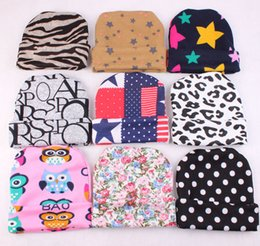 Wholesale Knit Owl Hat For Newborn - 9 Stly Newborn Baby Hats Owl Stars Knitted Caps for Girls Toddlers Winter Autumn Soft Cotton Comfort Warm Sleep Cap Headwear 0-3M